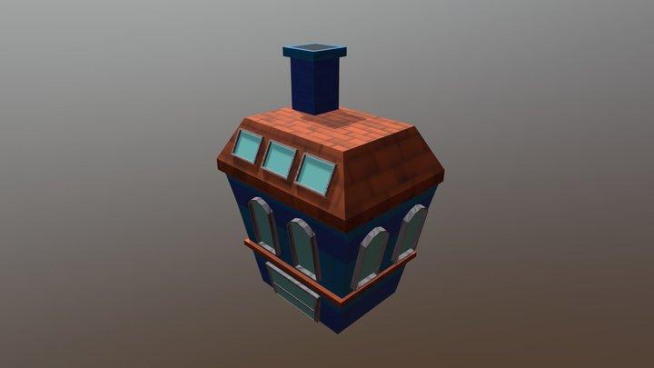 Prédio azul 3D Model