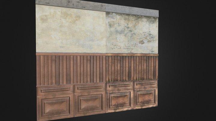 Wood - Plaster - C  3D Model