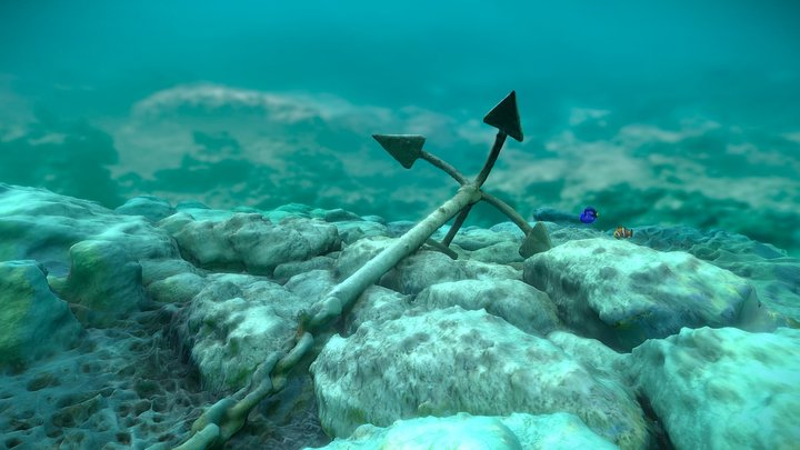 Anchor on a see floor | Greece 3D Model