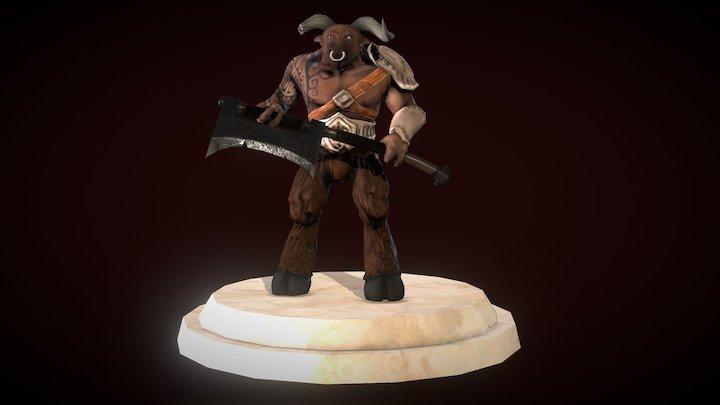 Minotaur Gladiator 3D Model