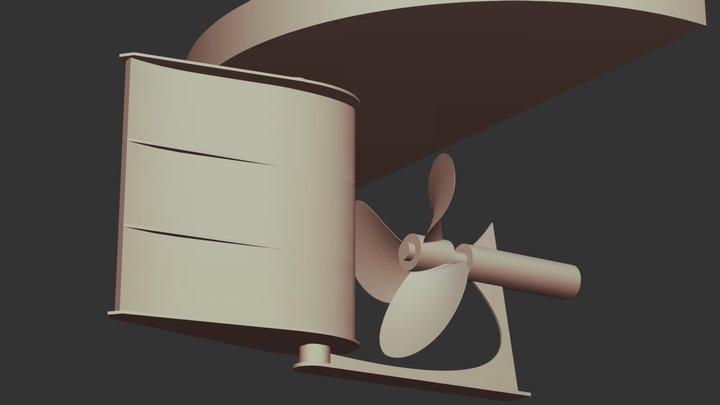 SCHILLING RUDDER 3D Model