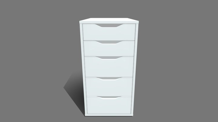 IKEA ALEX Drawer Unit 3D Model