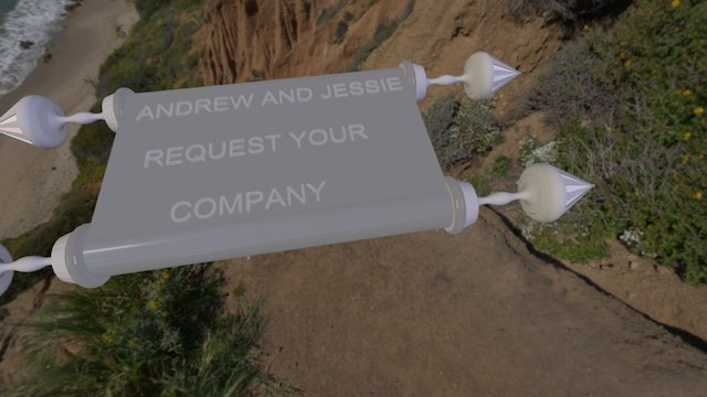 Invite scroll 3D Model