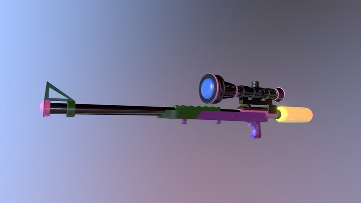 Splatoon Sniper 3D Model