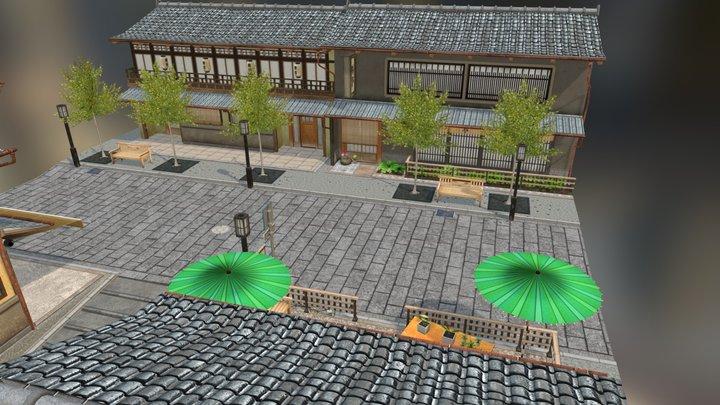CityScene Kyoto street 3D Model