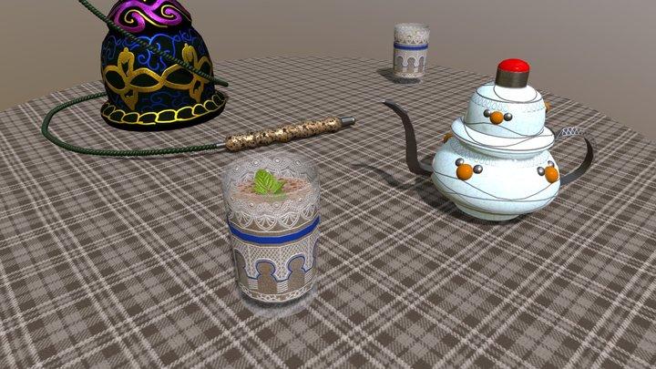 Hookah Cachimba Nargile Shisha 3D Model