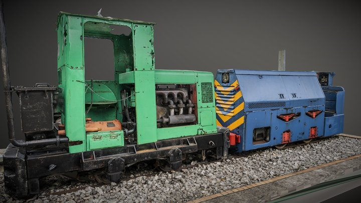 Locomotive La Camocha raw photogrammetry scan 3D Model
