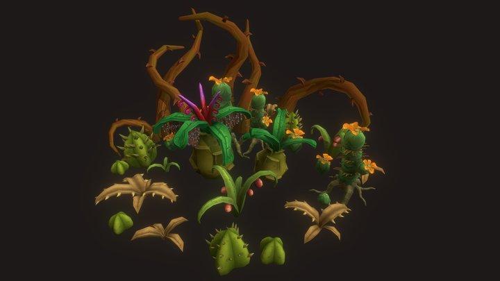 Fantasy Plants 3D Model