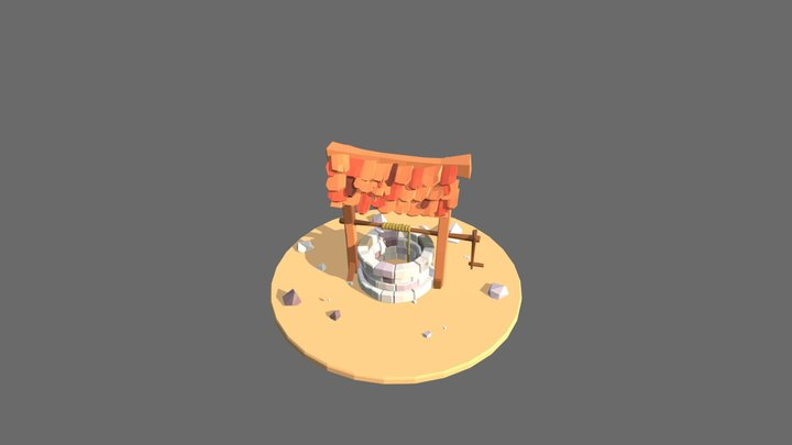 Low Poly Well Upload 3D Model