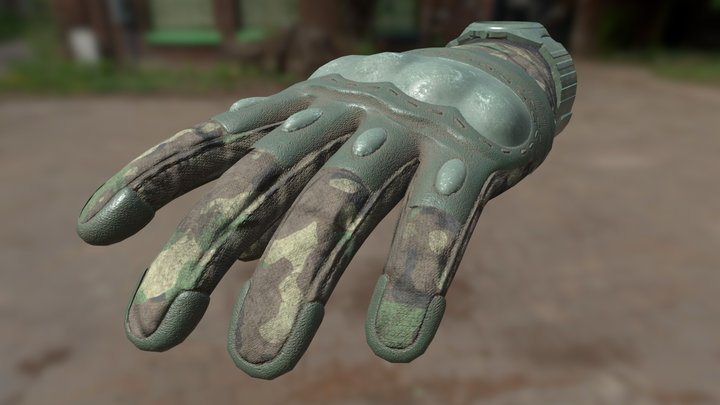 3D Tactical Gloves 3 3D Model