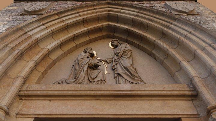 Tympanum on Church of St. Peter, Prague 3D Model