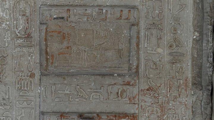 Painted Limestone Stela - Giza Museum 3D Model