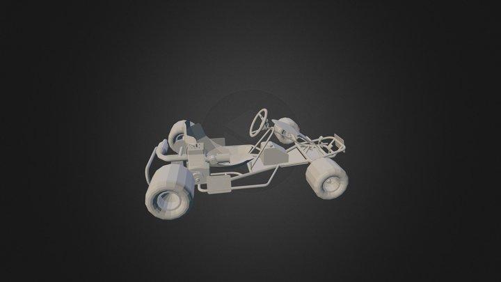 1983 Trik Sprint Kart And Yamaha kt100 3D Model