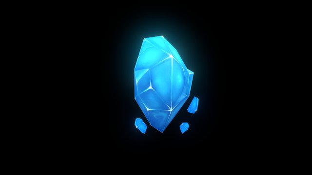 animated crystal 3D Model