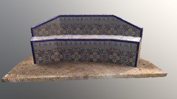 Banco azulejos 3D Model