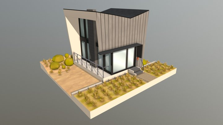 Low Poly Exterior 3D Model
