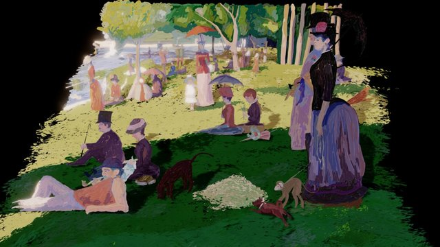 A Sunday on La Grande Jatte diorama 3D Model