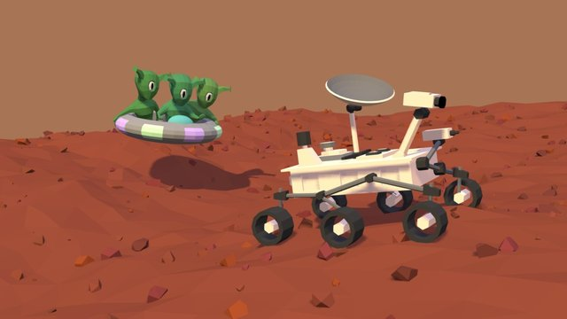 Curiosity 3D Model