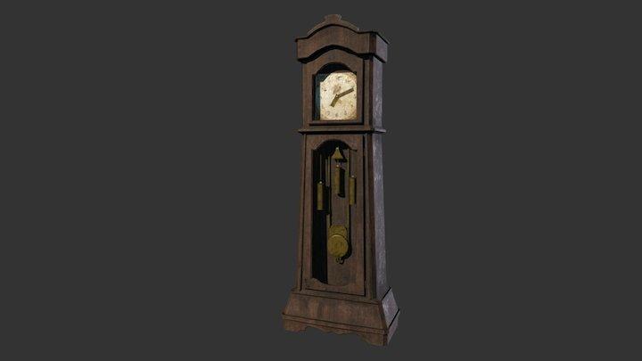 Grand Father Clock 3D Model