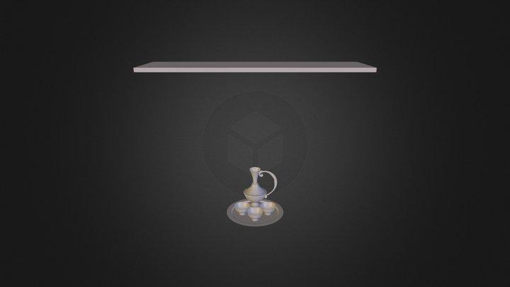 набор винный Lkдля загрузки 3D Model
