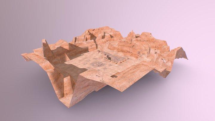 Escenario desierto de piedra 3D Model
