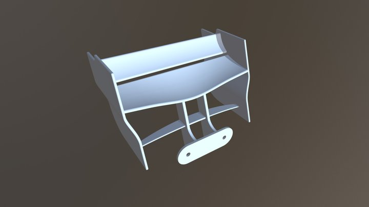 F1 2018 back wing 3D Model