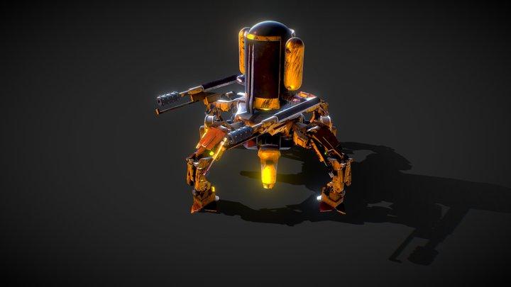 BastarZ BattleZ : Sylo Flamethrower Concept 3D Model