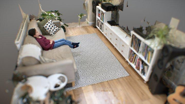 Maya in the living room 3D Model