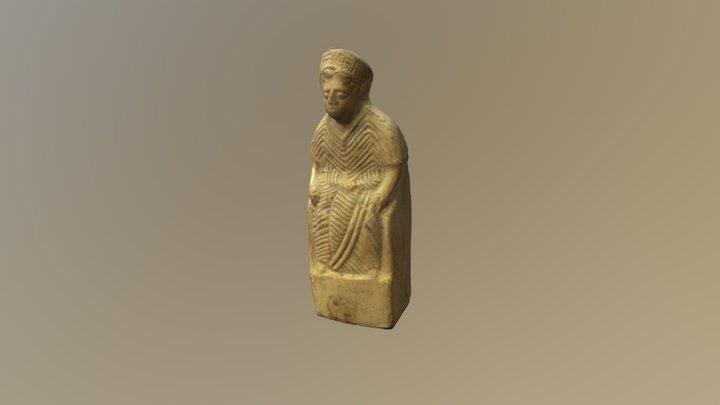 Terracotta female figurine 3D Model