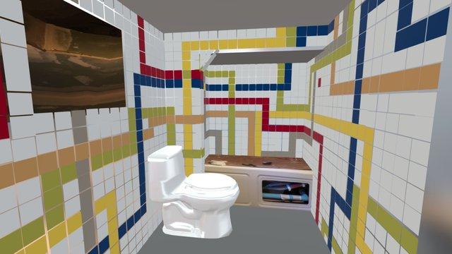 Room Bathroom Kids 3D Model