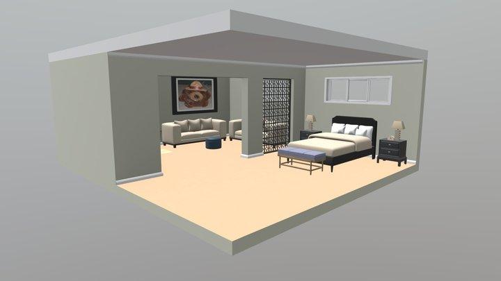 Master Bedroom Scene Pack 3D Model