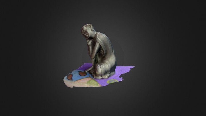 Statue with materials 3D Model