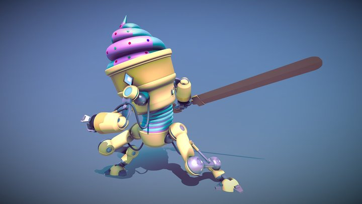 Ice Cream BOT 3D Model
