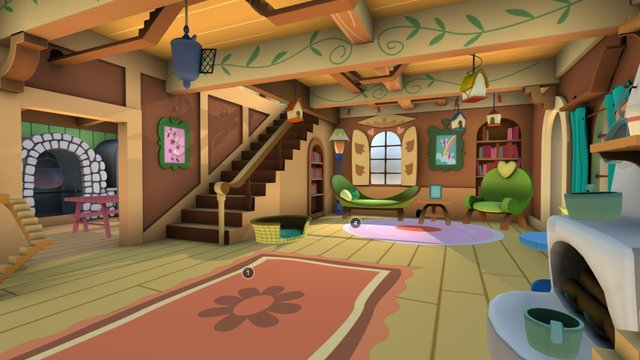 Fluttershys Cottage - Interior 3D Model