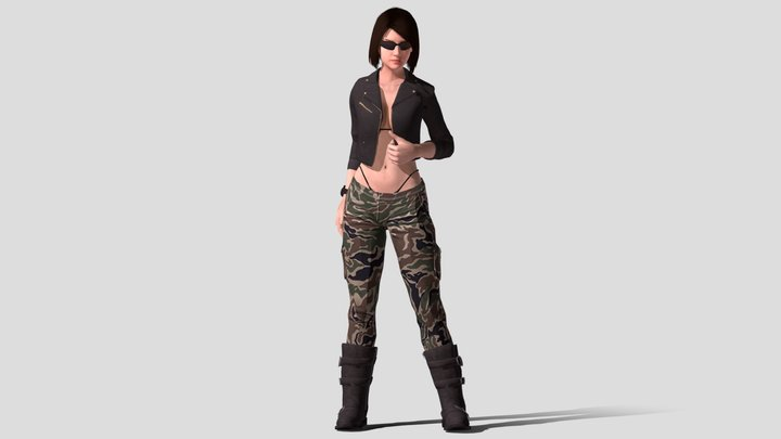 Assistant - Cargo Girl Outfit 3D Model