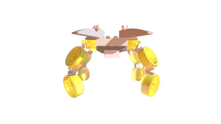 CLIP IT 3D - HYBRID SPIDER / ARAIGNEE HYBRIDE 3D Model