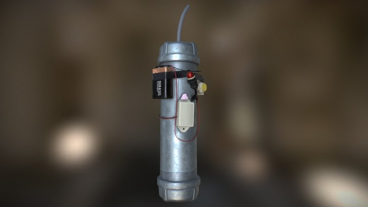 Pipe Bomb 3D Model