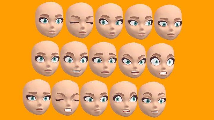 Stylized Expression Base 3D Model