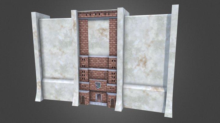 Attack on Titan Torhaus Texturiert 3D Model