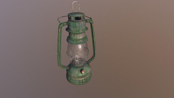 Lamp Kerosene Old 3D Model
