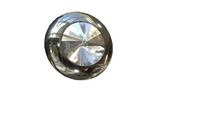 TH_RoundCrystalKnob11875in_BC 3D Model