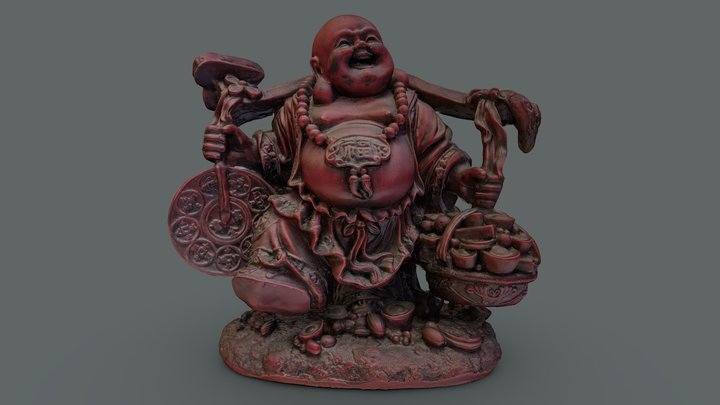 Laughing Buddha Statue 3D Model