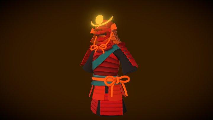 Samurai Armor VertexPaint 3D Model
