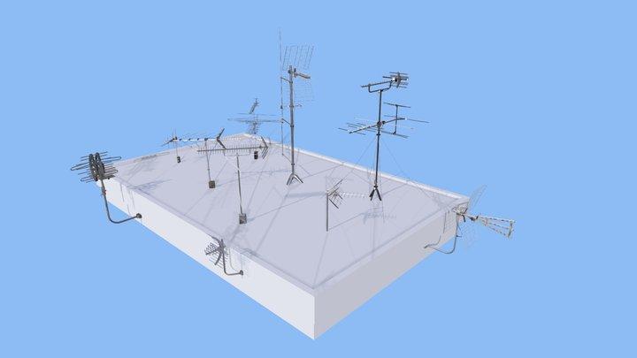 Antennas Pack | Game Assets 3D Model