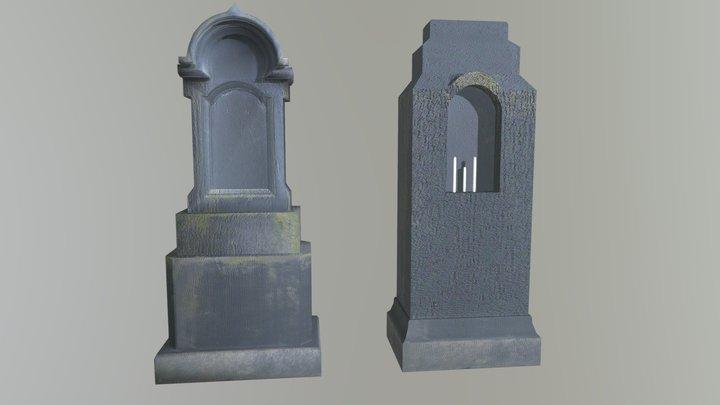 Tombstones (black) 3D Model
