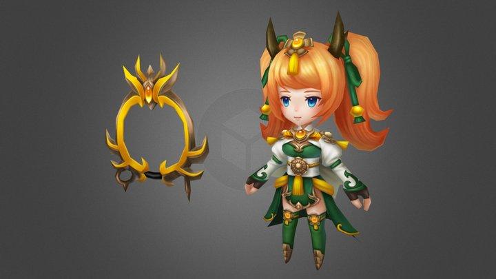 小龍女 3D Model
