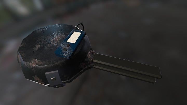 explosive skillets PBR 3D Model