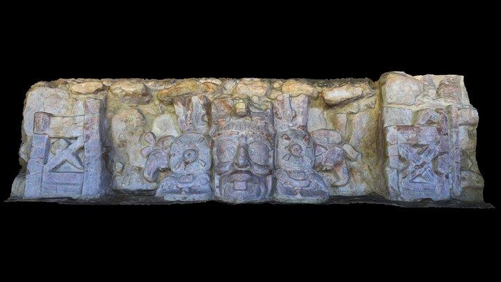 Del Templo de los Mascarones - Edzna 3D Model