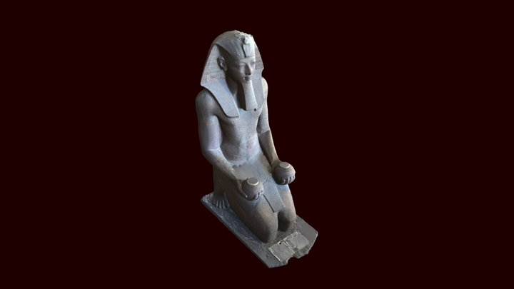 Kneeling statue of Hatshepsut 3D Model