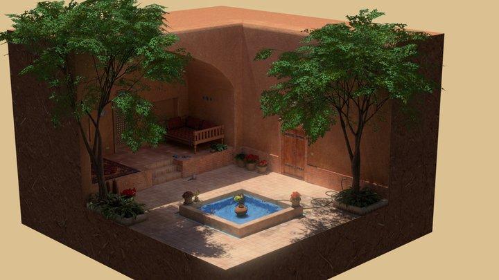 An afternoon in a Persian Garden 3D Model